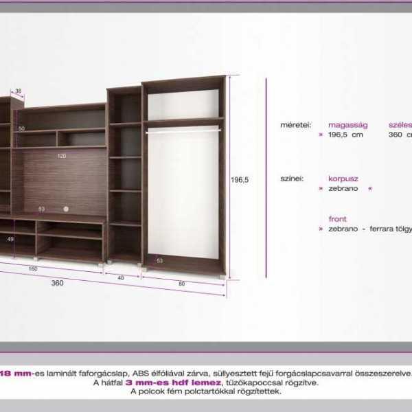 Malaga nappali szekrénysor méretei 1
