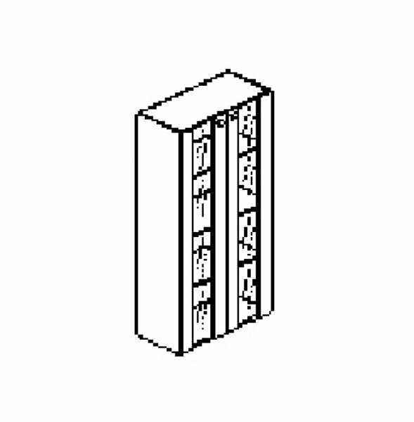 Silver irodabútor-irodai-négyrendezős-üveges-szekrény