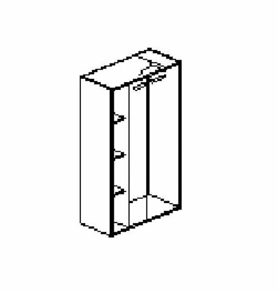 Silver irodabútor-irodai-négyrendezős-zárt-akasztós szekrény