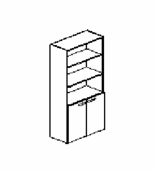 Silver irodabútor-irodai-ötrendezős-nyitott-zárt-szekrény