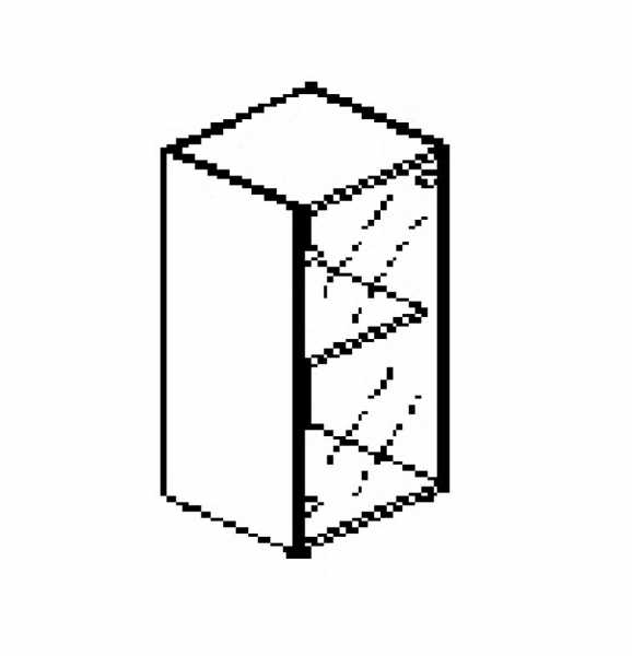 Silver irodabútor-irodai-alacsony-keskeny-üveges-szekrény